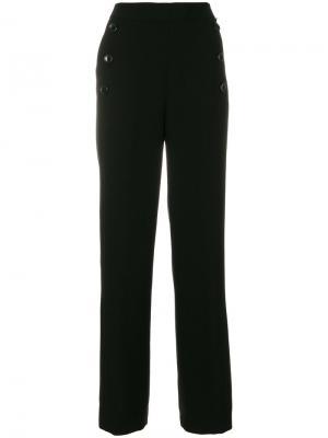 Брюки с высокой талией DKNY. Цвет: чёрный