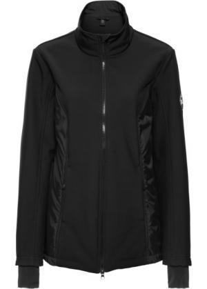 Куртка-софтшелл с жилеткой 3 в 1 (черный) bonprix. Цвет: черный