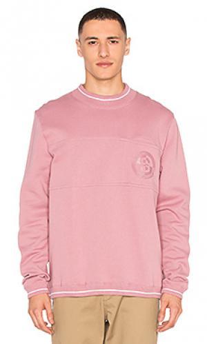 Свитшот с карманом и круглым вырезом Stussy. Цвет: розовый