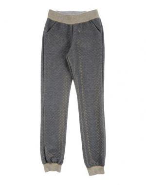 Повседневные брюки LAURA BIAGIOTTI DOLLS. Цвет: свинцово-серый