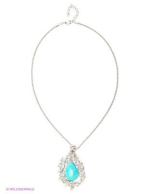 Колье Lovely Jewelry. Цвет: голубой, серебристый