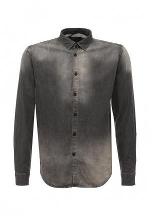 Рубашка джинсовая Hopenlife. Цвет: серый