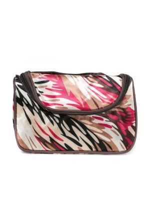 Косметичка-сумочка Mitya Veselkov. Цвет: бежевый, розовый