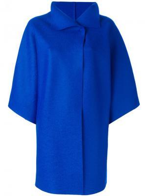 Пальто с широкими рукавами Harris Wharf London. Цвет: синий
