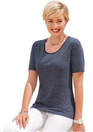 Кофточка. Цвет: бежевый/белый в полоску, джинсовый синий/белый в полоску, изумрудный/белый в полоску, красный/белый в полоску, серый/белый в полоску, темно-серый/белый в полоску, темно-синий/белый в полоску