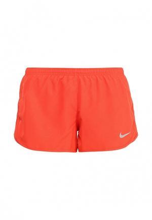 Шорты спортивные Nike. Цвет: оранжевый