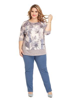 Блуза Калипсо Царевна. Цвет: серый, светло-серый, темно-серый