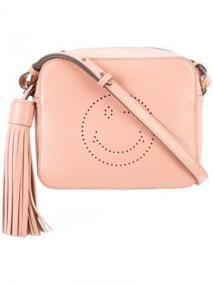 Сумка через плечо Smiley Anya Hindmarch. Цвет: розовый и фиолетовый
