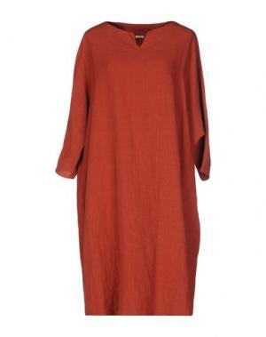 Короткое платье A.B APUNTOB. Цвет: ржаво-коричневый