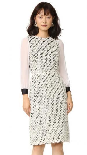 Платье из тюля с блестками Rodarte. Цвет: белый