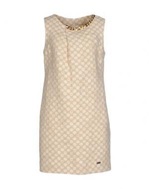 Короткое платье BABYLON. Цвет: песочный