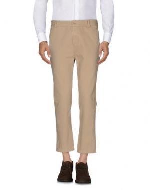Повседневные брюки DANIELE ALESSANDRINI. Цвет: песочный