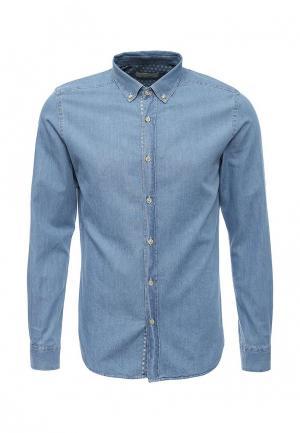 Рубашка джинсовая Cortefiel. Цвет: голубой