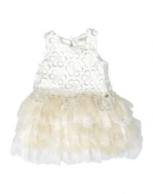 Платье MICROBE. Цвет: слоновая кость