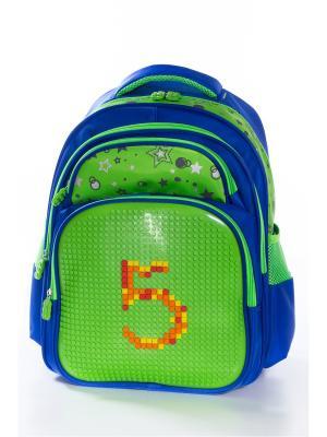 Рюкзак Vittorio Richi. Цвет: синий, салатовый