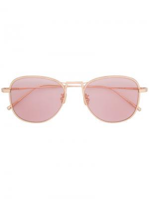 Солнцезащитные очки Deniz Maska. Цвет: металлический