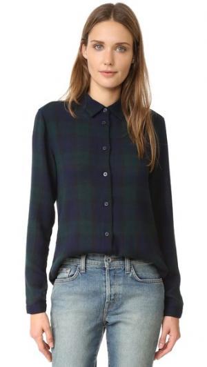 Классическая рубашка Mila Baldwin Denim. Цвет: клетчатая газовая ткань