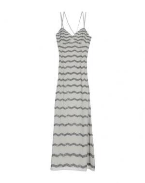 Длинное платье INTROPIA. Цвет: светло-серый