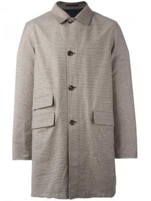 Двухстороннее пальто Kiton. Цвет: коричневый