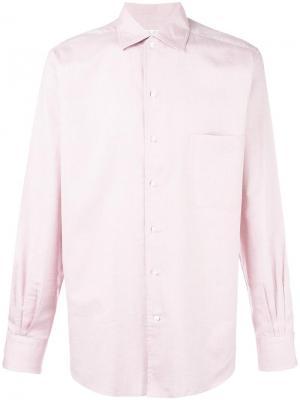 Рубашка с узором Loro Piana. Цвет: красный