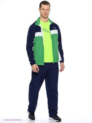 Костюм спортивный  ESS Woven Suit op Puma. Цвет: зеленый, синий