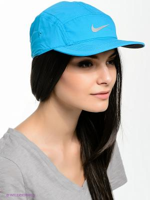 Бейсболка RUN WS AW84 Nike. Цвет: голубой