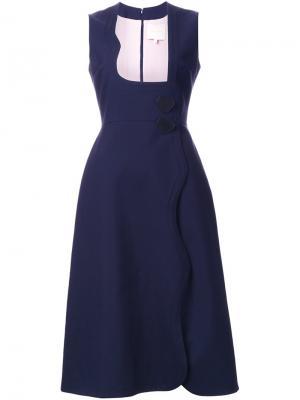 Расклешенное платье Roksanda. Цвет: синий