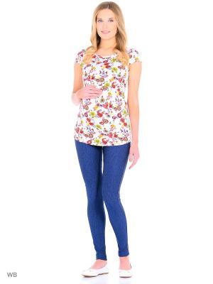 Блузка для беременных и кормления 40 недель. Цвет: красный, желтый, белый