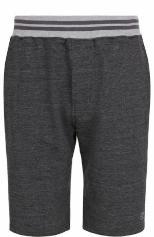 Хлопковые шорты свободного кроя Ermenegildo Zegna. Цвет: темно-серый