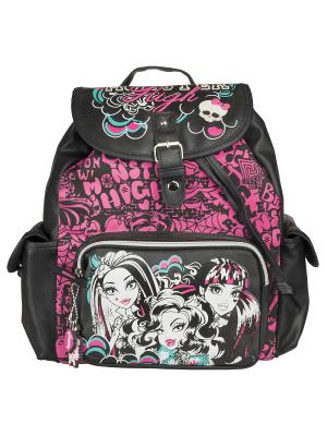 Рюкзак Monster High. Цвет: розовый, черный