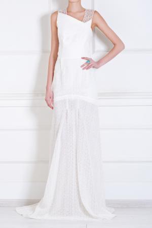 Хлопковое платье Roland Mouret. Цвет: белый