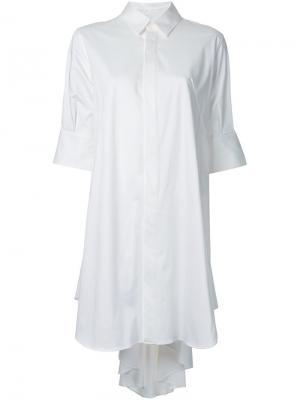 Платье-рубашка Maison Mihara Yasuhiro. Цвет: белый