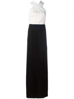 Monochrome evening gown Galvan. Цвет: белый