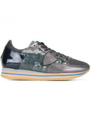 Декорированные кроссовки Philippe Model. Цвет: синий