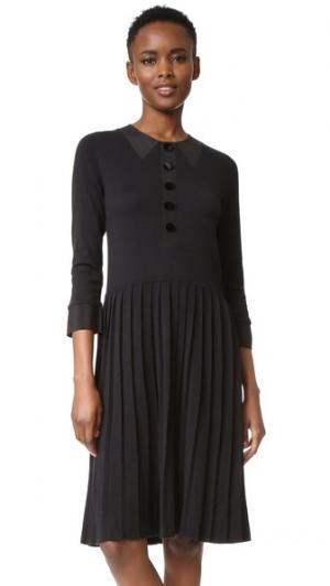 Платье-свитер с иллюзорным эффектом Marc Jacobs. Цвет: голубой