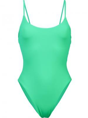 Слитный купальник Delano Alix. Цвет: зелёный