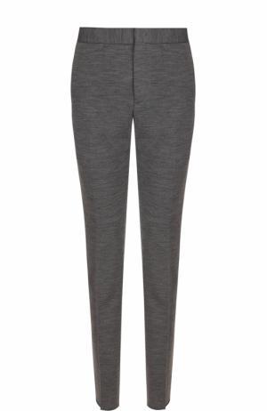 Шерстяные брюки прямого кроя Z Zegna. Цвет: серый