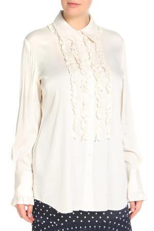 Блуза Elie Tahari. Цвет: белый