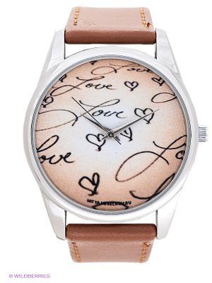 Часы Mitya Veselkov. Цвет: коричневый