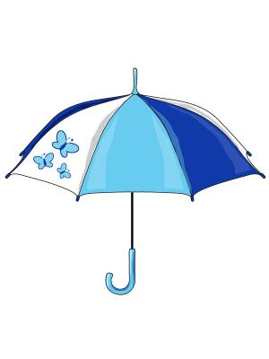 Зонт детский PlayToday. Цвет: синий