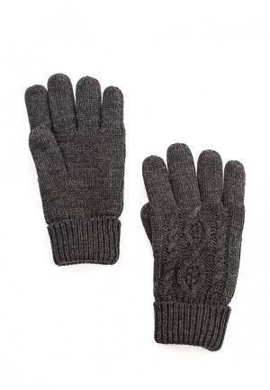 Перчатки oodji. Цвет: серый