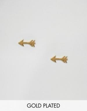 Gorjana Позолоченные серьги-гвоздики. Цвет: золотой