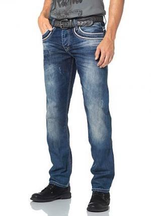 Джинсы с 5-ю карманами Cipo & Baxx. Цвет: синий с эффектом состаренности