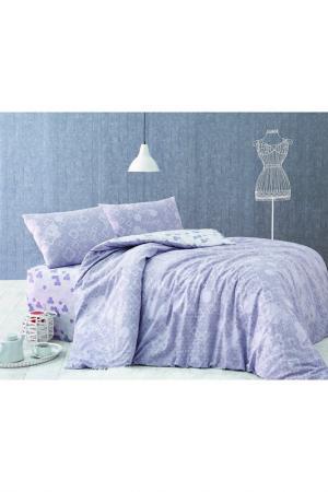 Комплект постельного белья Marie claire. Цвет: lilac and grey