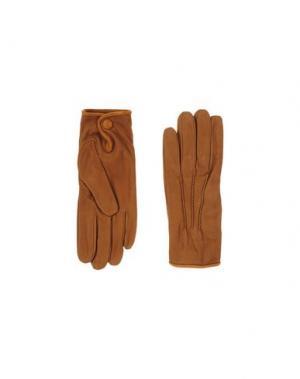 Перчатки MELINDAGLOSS. Цвет: желто-коричневый