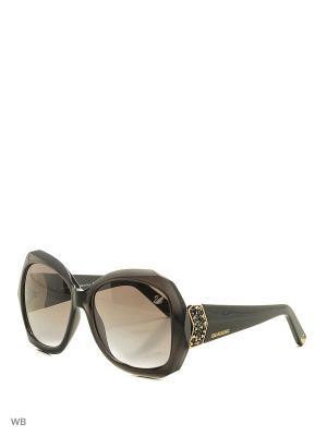 Солнцезащитные очки SK 0034 20F Swarovski. Цвет: серый, золотистый