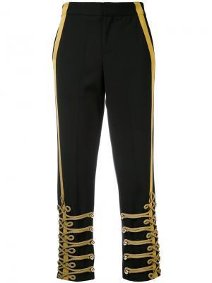 Прямые брюки в стиле милитари A.F.Vandevorst. Цвет: чёрный