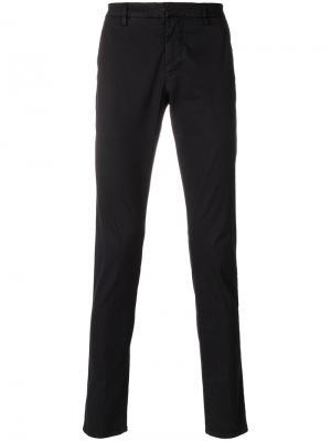 Классические джинсы узкого кроя Dondup. Цвет: чёрный