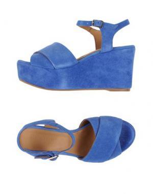Сандалии FIORINA. Цвет: темно-синий