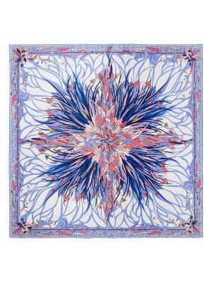 Платок Eleganzza. Цвет: синий, розовый, светло-коричневый